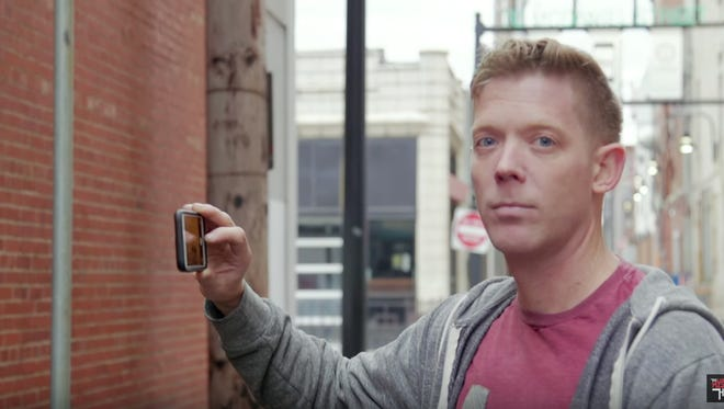 """Jeff Houghton, host of local TV talk show """"The Mystery Hour,"""" along with other Springfield-area actors, are featured in a digital ad for 7-Eleven released Monday. Like """"The Mystery Hour's earlier video """"Instagram Husband,"""" the ad spoofs Millennials taking pictures of their food."""
