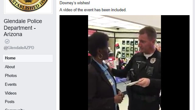 The Glendale Police Department raised $1,000 for a woman whose money was stolen inside of Walgreens.