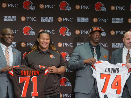 Ray Farmer, Danny Shelton, Cameron Erving, Mike Pettine