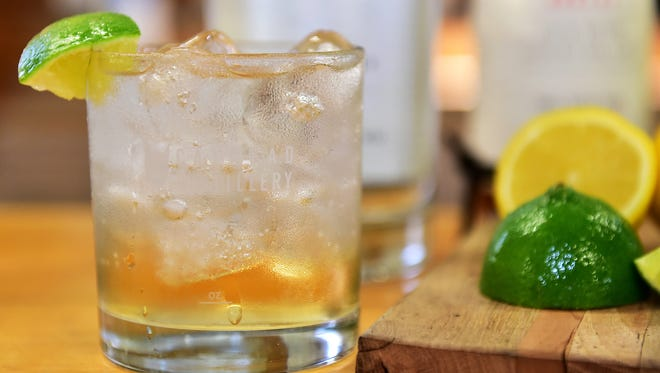 A gin and tonic makes a refreshing drink for summer.
