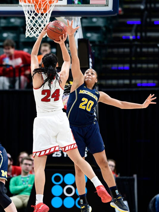 NCAA Womens Basketball: Big Ten Conference Tournament Michigan vs Nebraska