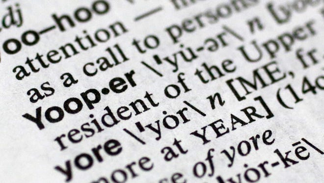 Yooper, one of the 150 new words appearing in Merriam-Webster's Collegiate Dictionary and the company's free online database appears on page 1454 of the printed edition of the dictionary.