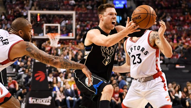 The Toronto Raptors aren't happy with some of the screens set by Bucks guard Matthew Dellavedova during Game 1.