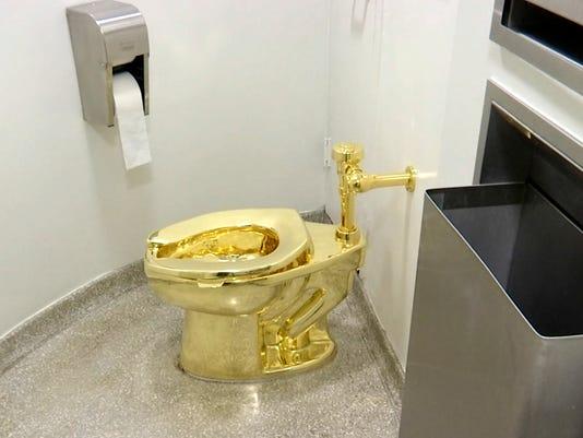 Guggenheim gold toilet