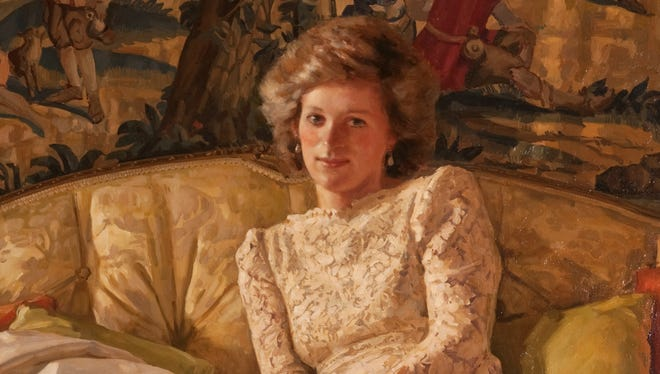 Princess Diana by artist Richard Foster of the Royal Society of Portrait Painters, in 1986.