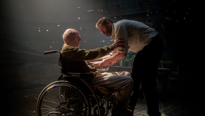 Sir Patrick Stewart and Hugh Jackman cope with their frailties in 'Logan.'