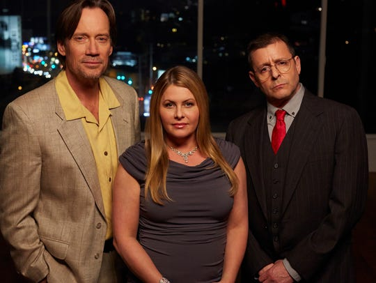 Nicole Eggert, flanked by Kevin Sorbo and Judd Nelson