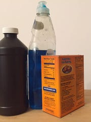 Dish soap, baking soda and hydrogen peroxide can be