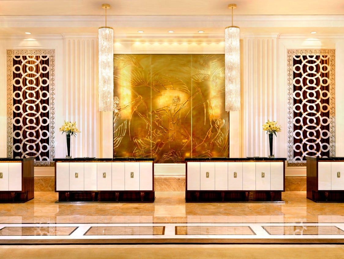 Trump International Hotel Las Vegas features angular, streamlined design accents.