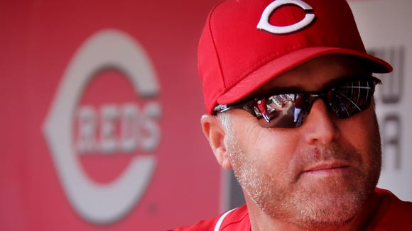 Reds manager Bryan Price during the Reds' final game of the season at Great American Ball Park.
