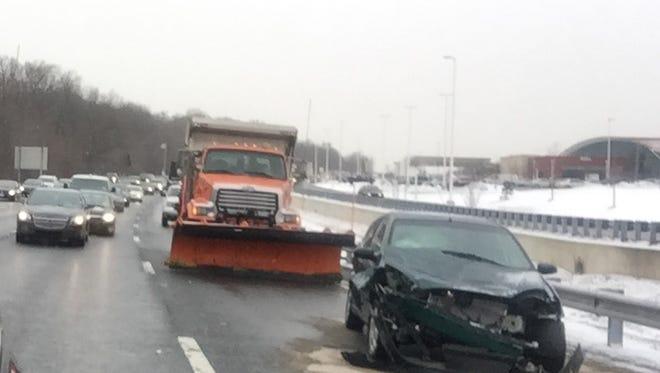 A crash in the left lane of northbound I-95 Thursday morning.