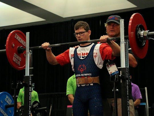 Preparing to compete in one of several events at the