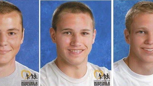 These age-progression photos issued in 2019 by the National Center for Missing & Exploited Children show Andrew, Alexander and Tanner Skelton of Morenci as they might look nine years after their disappearance in 2010.
