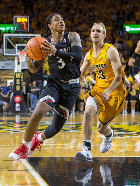 NCAA Basketball: Cincinnati at Wichita State