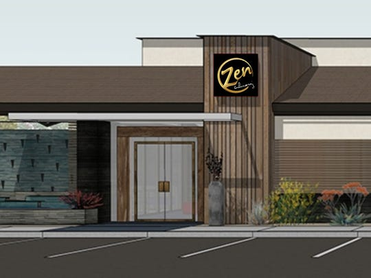 Concept rendering of Zen Culinary's entrance.