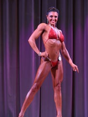 Women's National tall height class competitor Sarah Pavlik poses during the 2016 Michelob Ultra Bodybuilding and Fitness Championships and International Invitational at LeoPalace Resort Guam in Yona on Nov. 12, 2016.