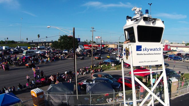 Corpus Christi police have used an older model SkyWatch Tower during popular events like Buc Days.