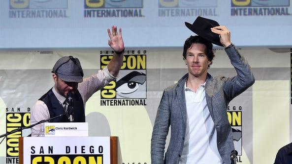 Actor Benedict Cumberbatch tips his hat at the 'Sherlock'