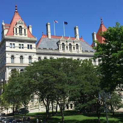 A view of the New York state Capitol