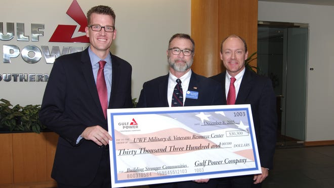 Gulf Power donated $30,300 to the University of West Florida Military and Veterans Resource Center.