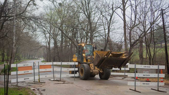 Final work is being completed on Cherokee Parkway, which is set to reopen on April 15. March 28, 2017.