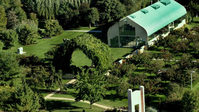 Grounds for Sculpture as seen from the air recently in Hamilton. The photo was taken by David W. Steele, as the sculpture park celebrates its 25th anniversary.