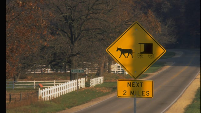 Signs warning drivers of slow moving Mennonite horse & buggies in the area are not doing enough to keep the roads safe.
