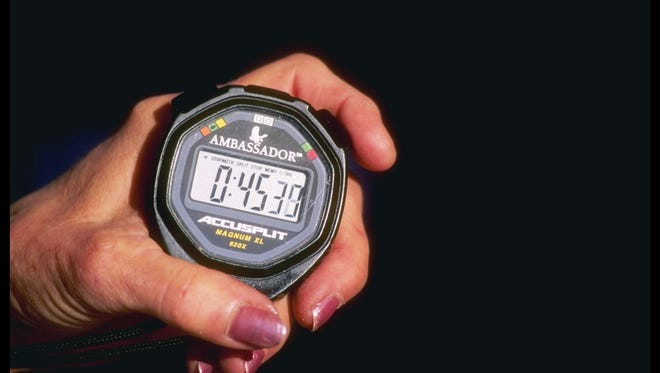 General view of a stopwatch.