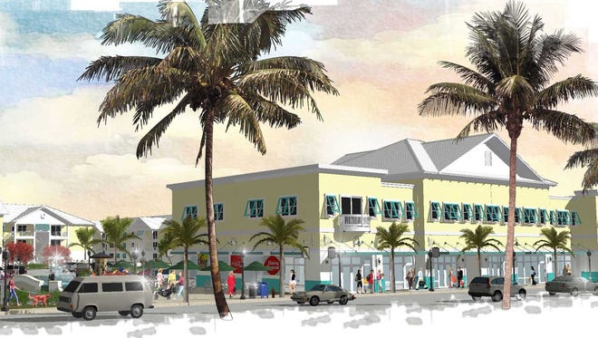 Renderings of an apartment project expected to be built off of Dean Street in Downtown Bonita Springs. The project is named Mosaic at Oak Creek.