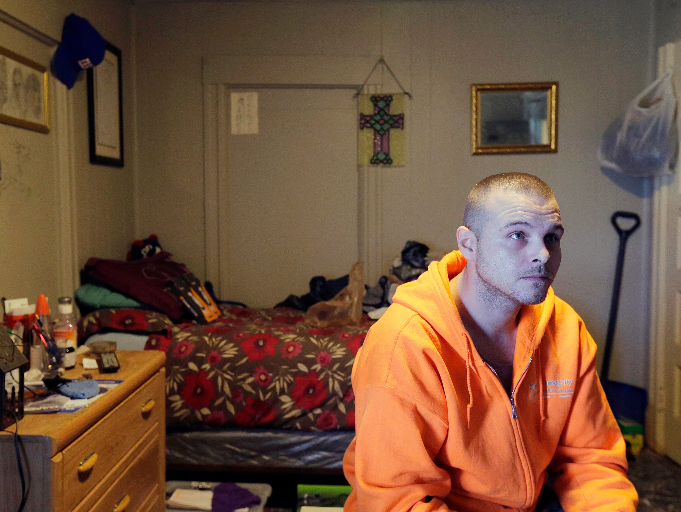 Mark VanDerveer, 33, a resident of the Delmonte Hotel,