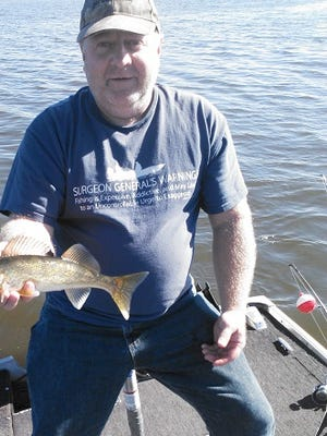 Dennis Brunk with a nice Tomahawk area walleye