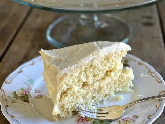 The beautiful color and flavor of this moist but not-too-sweet Golden Vanilla Cake comes naturally from pasture-raised cows.