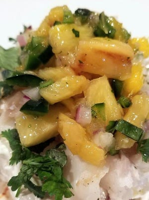 Grilled Pineapple and Mango Salsa.