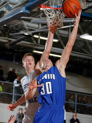 Ionia's Austin Gregory, shown in  a game last month, was one of the area's top performers Friday.