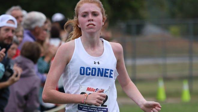 Oconee County's Phoebe Brodrick finished third at the Clarke/Oconee Championship last week.
