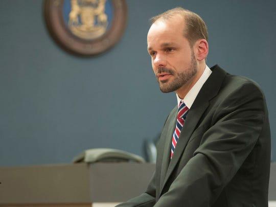 James Fifelski, lawyer for Elizabeth Long, delivers