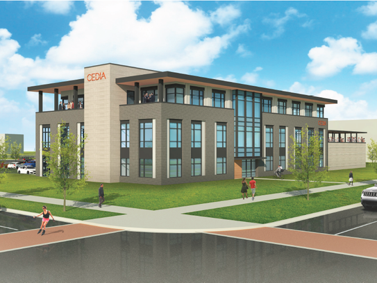 Rendering of planned CEDIA HQ in Fishers