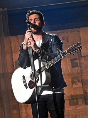 Thomas Rhett rehearses for the 53RD Academy of Country Music Awards at the MGM Grand Garden Arena  
