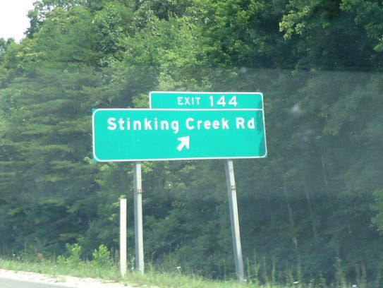 Road names can be peculiar, such as this one in Tennessee.
