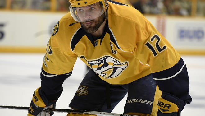 Predators captain Mike Fisher, who turns 37 on Monday, is a pending unrestricted free agent.