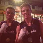 Nevada boxers Kirk Jackson, left, and Zasck Smith, right, picked up wins Friday in Seattle