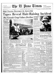 El Paso Times front page on showing the Texas Western