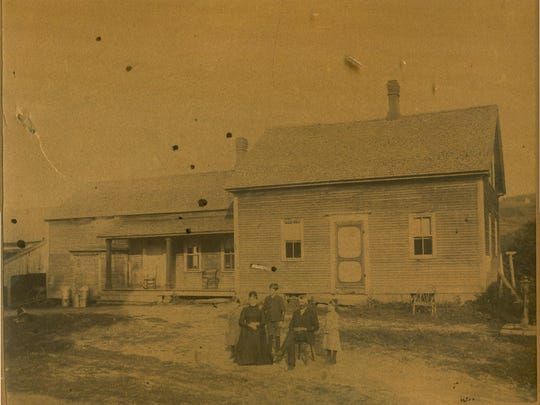A historic photo of the McGrath homestead in Northfield.