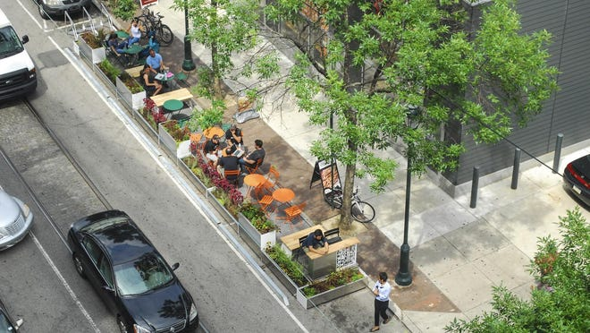 University City District operates several successful parklets in Philadelphia that have improved traffic to local businesses.