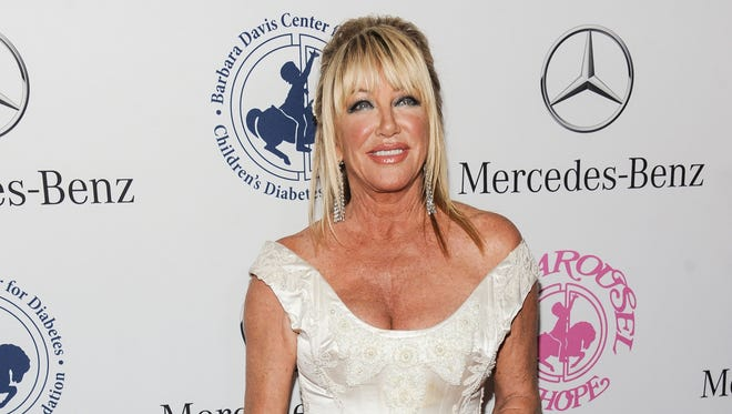 Suzanne Somers arrives at the 2014 Carousel Of Hope Ball, in Beverly Hills, California on Oct. 11, 2014.
