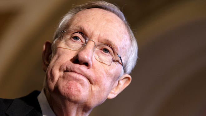 Senate Democratic leader Harry Reid.