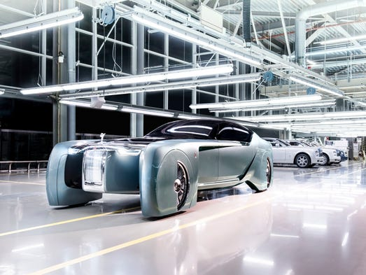 The Rolls-Royce Vision Next 100 concept car, code-named