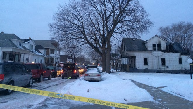 Authorities say four people are dead following a house fire in the Detroit enclave of Hamtramck.