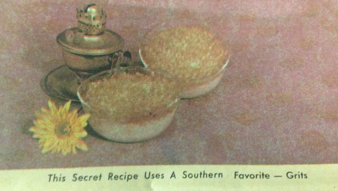 Grits, Gruyere Cheese and Parmesan Cheese are all part of a 1976 recipe from Mrs. N. R. Trowbridge of Cape Coral.