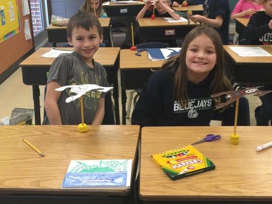 Nicolet Elementary School third-grade students Alex